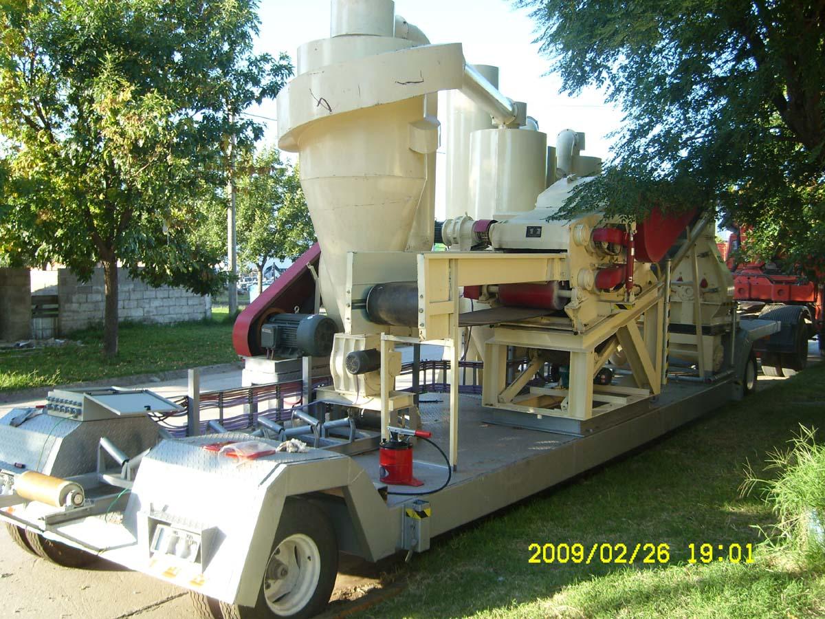 Portable pellet mill canadian biomass