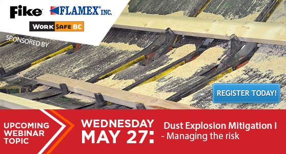 WEBINAR: Dust Explosion Mitigation I<br>Managing the risk - May 27